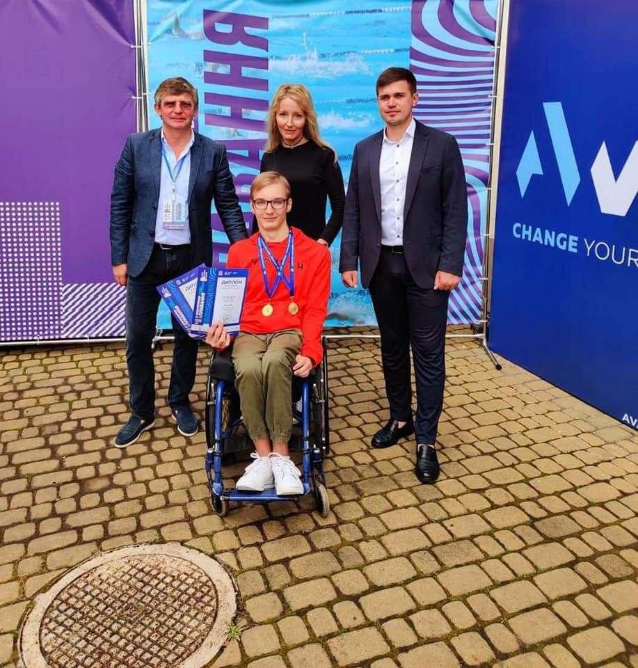 Студент другого курсу, група ПІ 201 на змаганнях з плавання відкритого кубка Львова